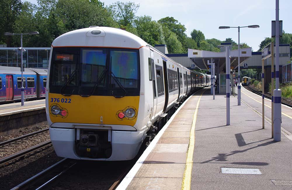 View of train at Sevenoaks Station