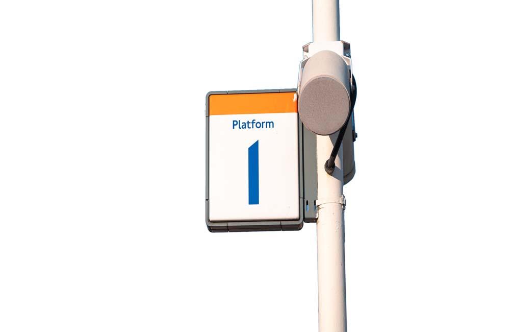 Image of station platform speaker