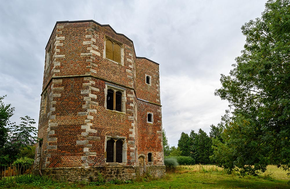 Exterior view of Otford Palace (or the Archbishop's Palace) in Otford, Kent