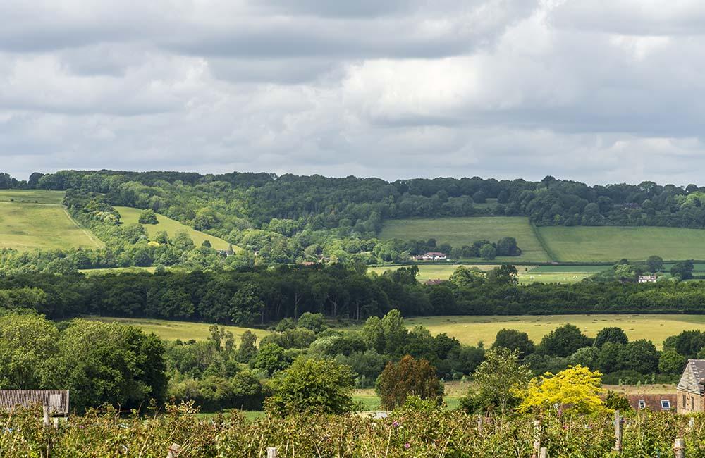 English countryside view of Sevenoaks, Kent