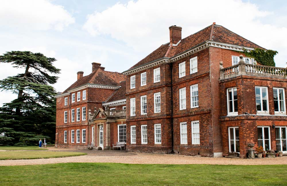 Exterior view of Lullingstone Castle from the front lawn